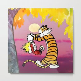 Beautiful dance calvin hobbes Metal Print