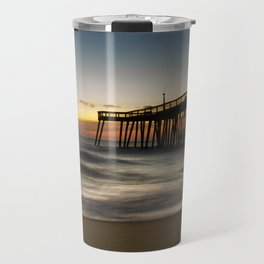 Motion of the Ocean - Sunrise Coastal Landscape Photo Travel Mug