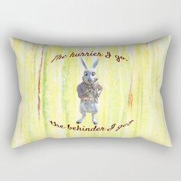 White Rabbit shares his wisdom Rectangular Pillow
