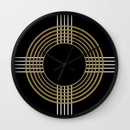 GUITAR IN ABSTRACT (geometric art deco) Wall Clock