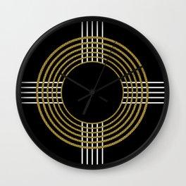 GUITAR IN ABSTRACT (geometric art deco) Wall Clock
