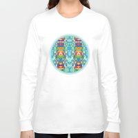 glitch Long Sleeve T-shirts featuring glitch by Xenia Pirovskikh