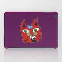 diablo iPad Cases featuring Gato Diablo by Scribblebro