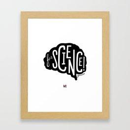 """Black """"For Science"""" for sebastian Framed Art Print"""