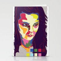 bjork Stationery Cards featuring Bjork by mr. michael temple