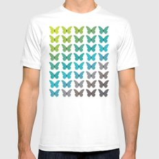 Butterflies Mens Fitted Tee White MEDIUM