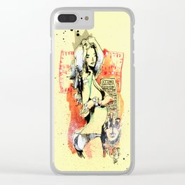 QUEEN OF TRIANGLES Clear iPhone Case