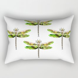 Dragonfly illustrated flying insect Rectangular Pillow
