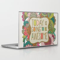 valentina Laptop & iPad Skins featuring Today is going to be awesome by Valentina Harper