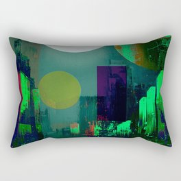 Electric city Rectangular Pillow