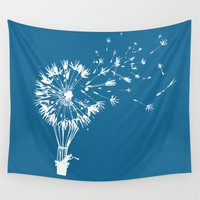wind Wall Tapestries featuring Going where the wind blows by Picomodi