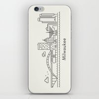milwaukee iPhone & iPod Skins featuring Milwaukee by Anna Trokan