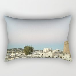Ibiza Old Town at Sunset Rectangular Pillow
