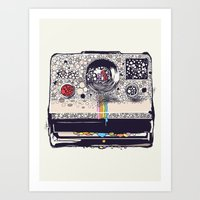 huebucket Art Prints featuring COLOR BLINDNESS by Huebucket