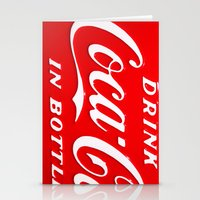 coca cola Stationery Cards featuring Coca-Cola by Kai Gee