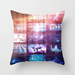 Disruptive Technology and Innovation in New Market Throw Pillow