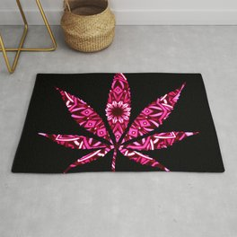 Marijuana : High Times Pink Bandana Rug