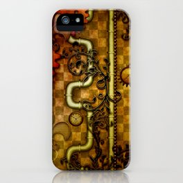Noble Steampunk design, clocks and gears iPhone Case