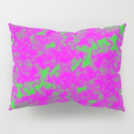 A interweaving cluster of pink bodies on a green background. Pillow Sham