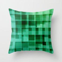 green squares pattern Throw Pillow