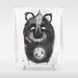 Selene the Moon Bear. Shower Curtain