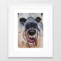 schnauzer Framed Art Prints featuring Schnauzer by Doggyshop