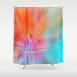 Abstract Big Bangs 002 Shower Curtain
