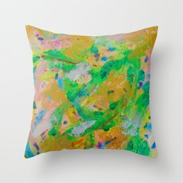 Glorious Garden by Elina Meijer Throw Pillow