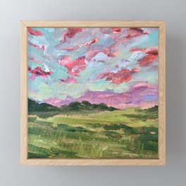 Prairie Sunset Framed Mini Art Print