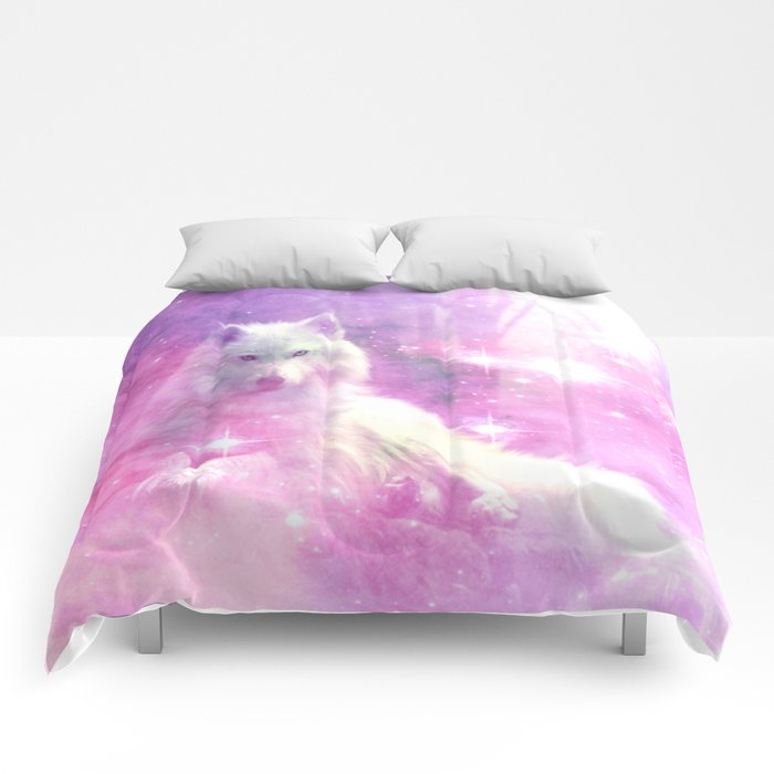 Majestic Wolf Pink Comforters