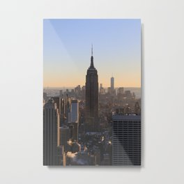 Empire State Building NYC Sunset Metal Print