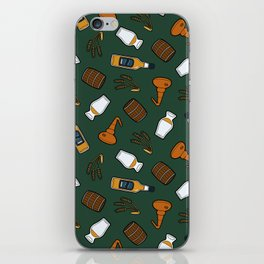 Whisky Pattern in Dark Green iPhone Skin