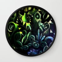 duvet cover Wall Clocks featuring LONELY FOREST DUVET COVER by aztosaha