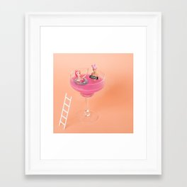 Margarita tub Framed Art Print