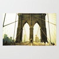 bridge Area & Throw Rugs featuring Bridge by Jacquie Fonseca