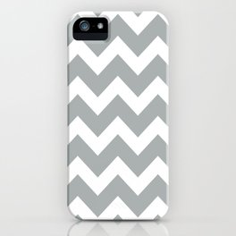 Chevron Grey & White iPhone Case