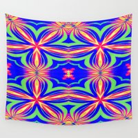 psychedelic Wall Tapestries featuring Psychedelic  by 2sweet4words Designs