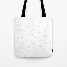 Teal and Pink Kush Leaf Tote Bag