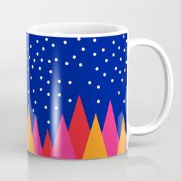 Moonlit Christmas Trees Coffee Mug