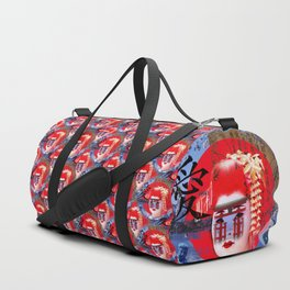 Geisha Collage Duffle Bag