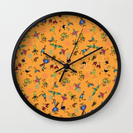 Bird Explosion fun Wall Clock
