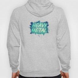 HEAVY METAL! ( Green Splatter Typo Design ) Hoody