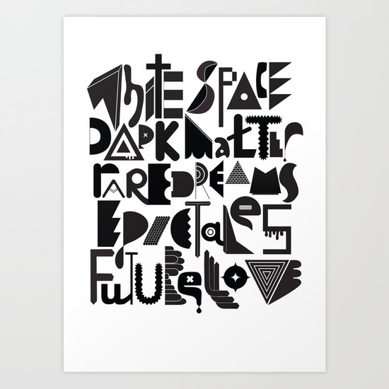 White Space Dark matter Art Print