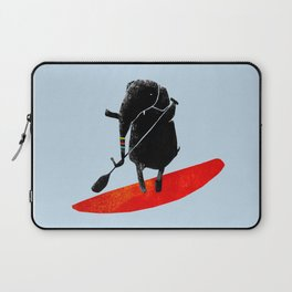 Elephant Paddle Boarding on the Ocean Laptop Sleeve