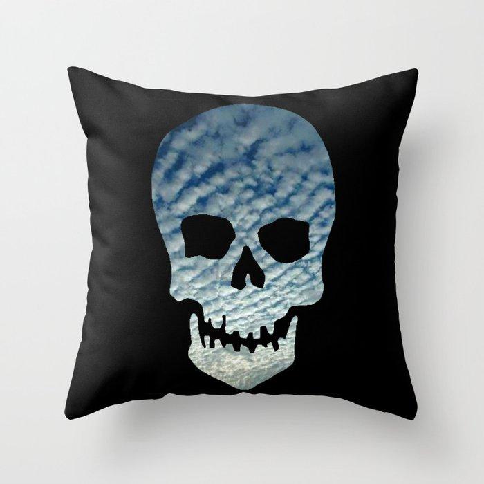 Sky Skull Throw Pillow