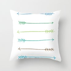 Colour Arrows Throw Pillow