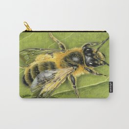 Honeybee On Leaf Carry-All Pouch