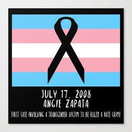 Memorial: Angie Zapata Canvas Print