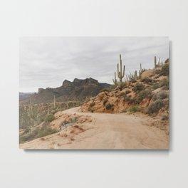 Classic Desert Drive Metal Print