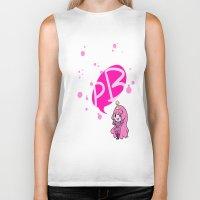 princess bubblegum Biker Tanks featuring Princess Bubblegum by dartty